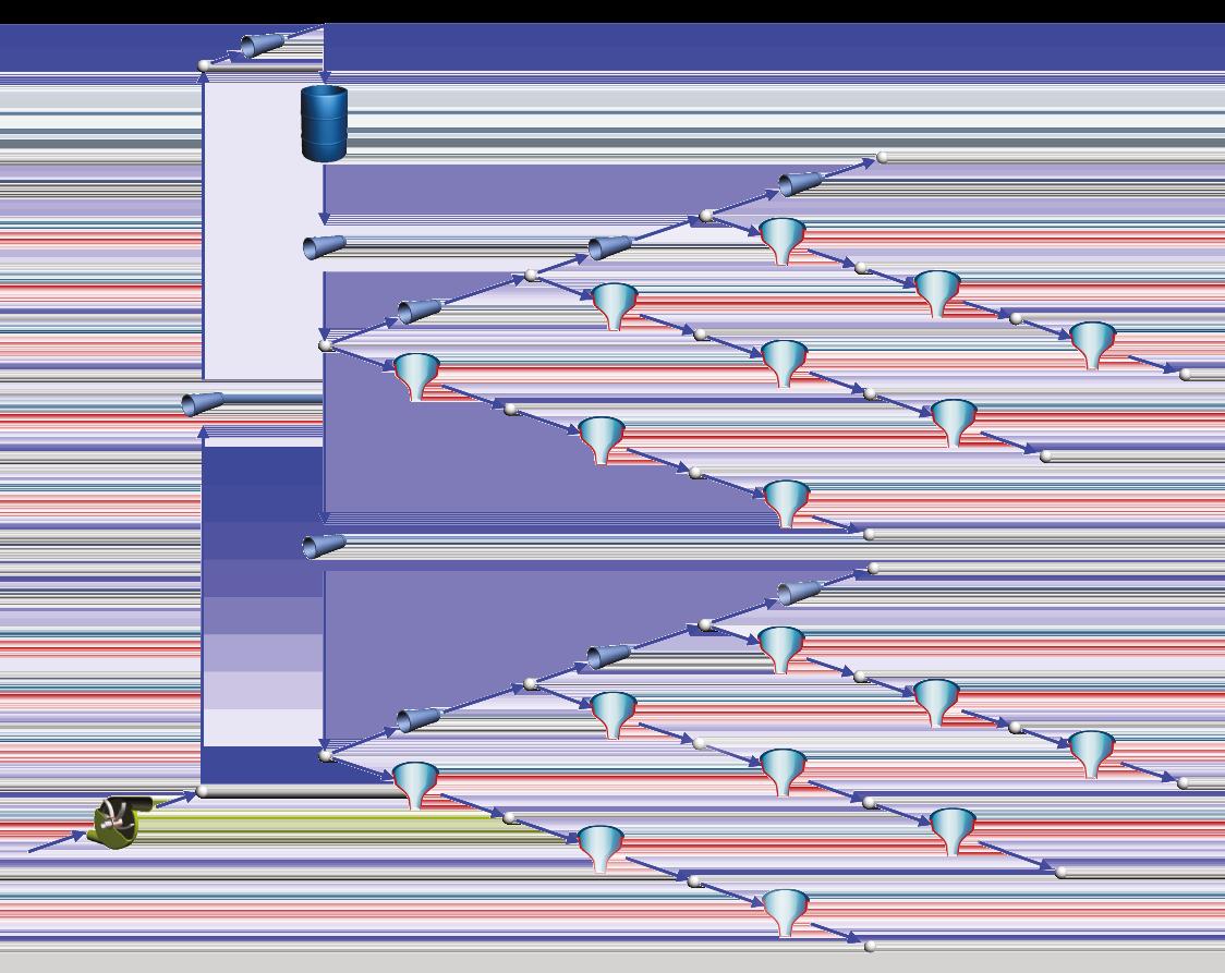 Netzwerkmodell einer Sprinkleranlage für den Brandschutz