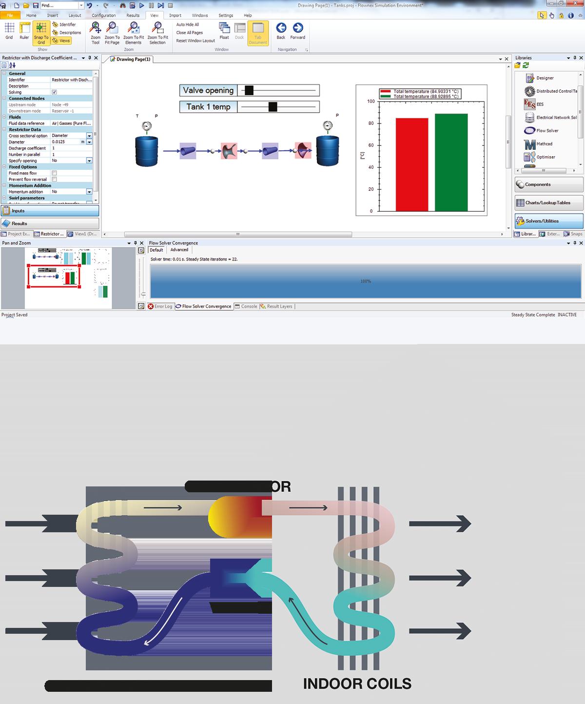 Flownex®-Simulationsmodelle erklären den Joule-Thomson Effekt in Lehrveranstaltungen