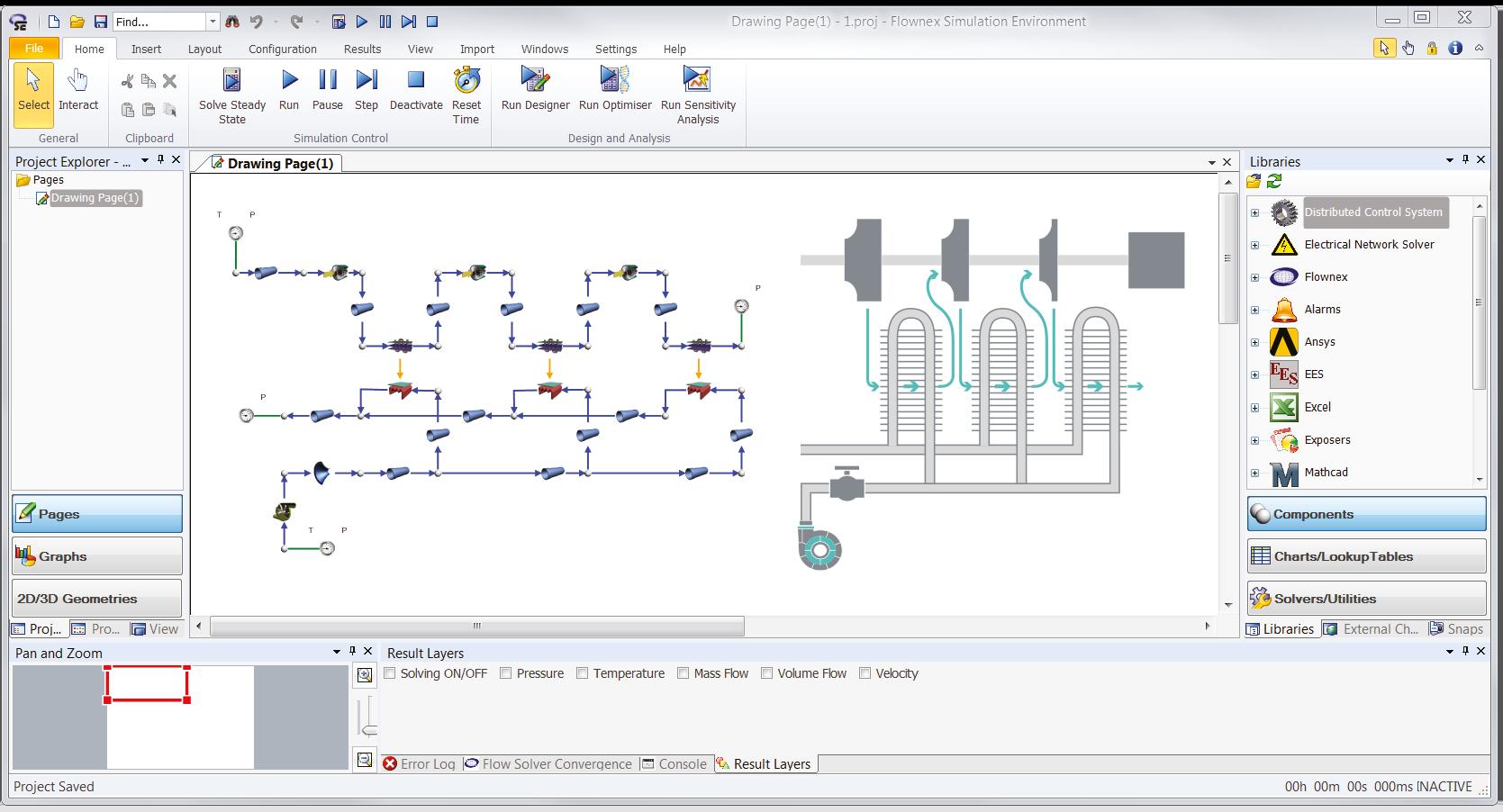 Systemsimulation mit Flownex® zur Auslegung der Zwischenkühlung eines Verdichtungsprozesses im Anlagenbau