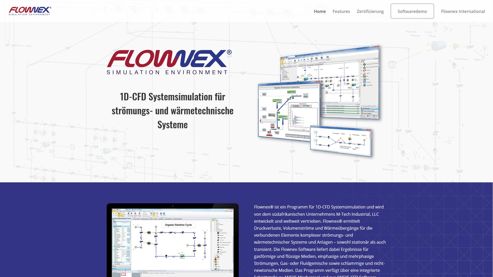 Bild neue webseite flownex.de