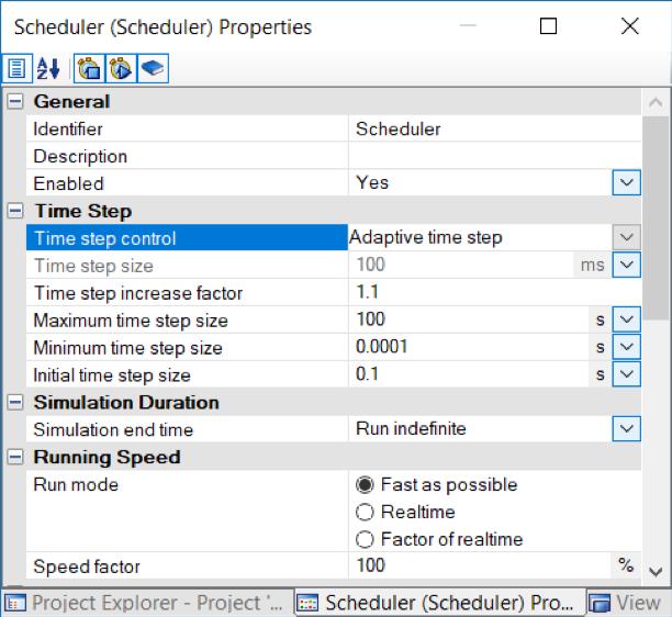 Adaptive Time Step in Scheduler